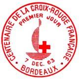 Oblitération 1er jour à Bordeaux le 7 décembre 1963