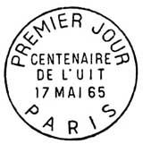 Oblitération 1er jour à Paris le 17 mai 1965