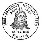 Oblitération 1er jour à Paris le 12 février 1966