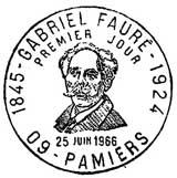 Oblitération 1er jour à Pamiers le 24 juin 1966