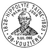 Oblitération 1er jour à Vouziers le 9 juillet 1966