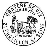 Oblitération 1er jour à Châtillion-sur-Seine 26 mars 1966