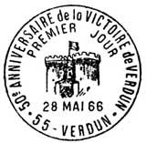 Oblitération 1er jour à Paris 28 mai 1966