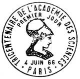 Oblitération 1er jour à Paris 6 juin 1966
