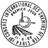 Oblitération 1er jour à Paris 11 juin 1966