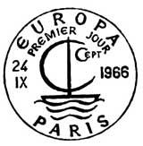 Oblitération 1er jour à Paris et Strasbourg 24 septembre 1966
