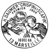 Oblitération 1er jour à Marseille le 10 décembre 1966