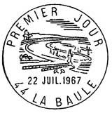 Oblitération 1er jour à La Baule le 22 juillet 1967