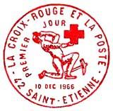 Oblitération 1er jour à Saint-Etienne le 10 décembre 1966
