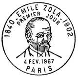 Oblitération 1er jour à Paris le 4 février 1967