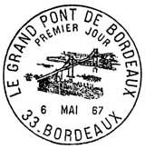 Oblitération 1er jour à Bordeaux le 6 mai 1967