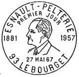 Oblitération 1er jour à Le Bourget le 27 mai 1967