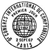 Oblitération 1er jour à Paris le 2 septembre 1967