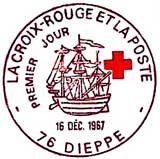 Oblitération 1er jour à Dieppe le 16 décembre 1967
