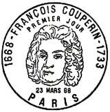 Oblitération 1er jour à Paris le 23 mars 1968