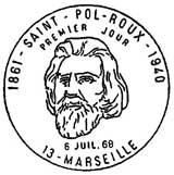 Oblitération 1er jour à Marseille et Camaret le 6 juillet 1968