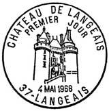 Oblitération 1er jour à Langeais le 4 mai 1968