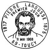 Oblitération 1er jour à Toucy le 11 mai 1968