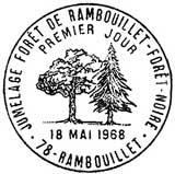 Oblitération 1er jour à Rembouillet le 18 mai 1968