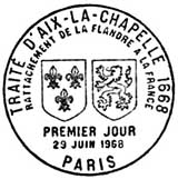 Oblitération 1er jour à Paris le 29 juin 1968
