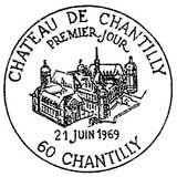 Oblitération 1er jour à Chantilly le 21 juin 1969