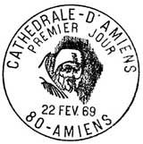 Oblitération 1er jour à Amiens le 27 février 1969