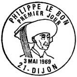 Oblitération 1er jour à Dijon le 3 mai 1969