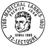Oblitération 1er jour à Lectoure le 10 mai 1969