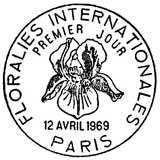 Oblitération 1er jour à Paris le 12 avril 1969
