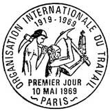 Oblitération 1er jour à Paris le 10 mai 1969