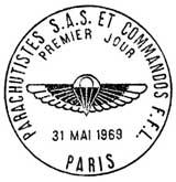 Oblitération 1er jour à Paris le 31 mai 1969