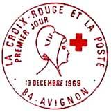 Oblitération 1er jour à Avignon le 13 décembre 1969
