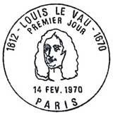 Oblitération 1er jour à Paris le 14 février 1970