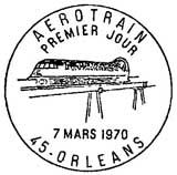 Oblitération 1er jour à Orléans le 7 mars 1970