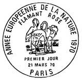 Oblitération 1er jour à Paris le 21 mars 1970