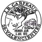 Oblitération 1er jour à Valenciennes le 4 juillet 1970