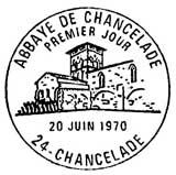 Oblitération 1er jour à Chancelade le 20 juin 1970