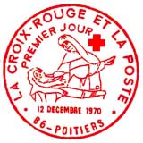 Oblitération 1er jour à Poitiers le 12 décembre 1970