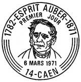 Oblitération 1er jour à Caen le 6 mars 1971