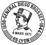 Oblitération 1er jour à Paris et Lyon le 6 mars 1971