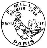 Oblitération 1er jour à Paris le 3 avril 1971