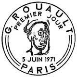 Oblitération 1er jour à Paris le 5 juin 1971