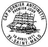 Oblitération 1er jour à Saint-Malo le 10 avril 1971