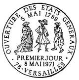Oblitération 1er jour à Versailles le 8 mai 1971