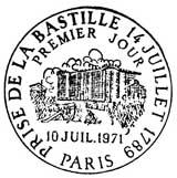 Oblitération 1er jour à Paris le 10 juillet 1971