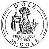 Oblitération 1er jour à Dôle le 3 juillet 1971