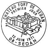 Oblitération 1er jour à Sedan le 12 juin 1971