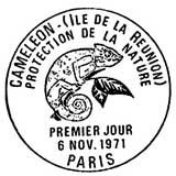 Oblitération 1er jour à Paris le 6 novembre 1971
