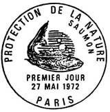 Oblitération 1er jour à Paris le 27 mai 1972