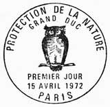 Oblitération 1er jour à Paris le 15 avril 1972